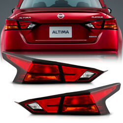 [4pcs] For 2019-20 Nissan Altima Oe-style Red Tail Light Brake Signal Lamp Lh+rh