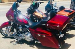 Hard Candy Hot Rod Red Flake Chopped Tour Pack For 1997+ Harley Touring