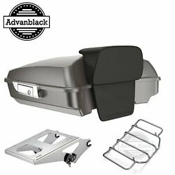 Advanblack Billet Silver Razor Tour Pack Trunk Luggage For 97+ Harley Touring