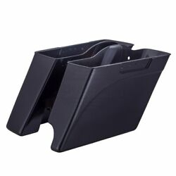 2in1 Midnight Pearl Stretched Saddlebags Bottoms 93-13 Harley Street Road Glide