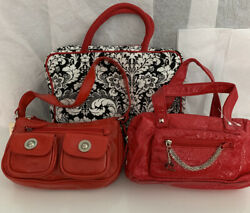 New amp; Used Handbags 2 Small Red Purses amp; 1 Travel Bag. Must See $15.00