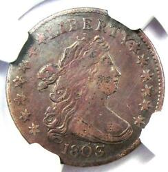 1803 Draped Bust Dime 10c - Certified Ngc Xf Details Ef - Rare Date Coin