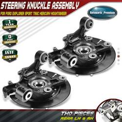 2 X Rear Wheel Bearing Hub Steering Knuckle Assembly For 2006-2010 Ford Explorer