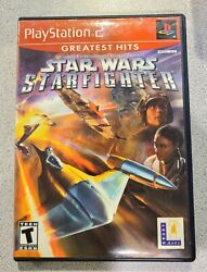Star Wars Starfighter Sony Playstation 2 Ps2 Greatest Hits 2002-refurb Disc