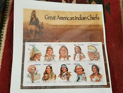 Great American Indian Chiefs Stamps The Gambia D12 Mint Mnt Condition Set Of 10