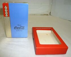 Sealed Vintage 1939 Coca-cola Blue Playing Cards W/stamp Mint