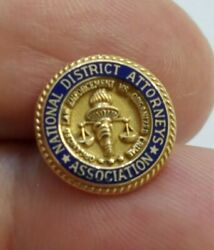 10k Yellow Gold National District Attorneys Association  Pin