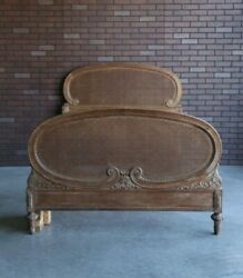 Antique French Full Bed  Parisian Bed French Provincial Cane Bed Frame