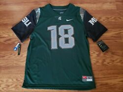 Michigan State Spartans Connor Cook Nike Dri Fit Size L Jersey New W/tags
