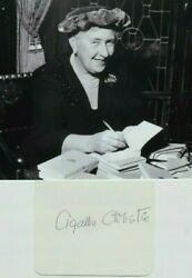 Dame Agatha Christie Famous English Author Best Selling All Time Autograph Rare