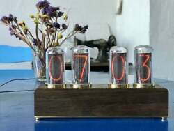 Nixie Tube Clock With New And Easy Replaceable In-18 Nixie Tubes Ideal Gift