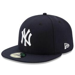 New York Yankees New Era Authentic On Field 59FIFTY Fitted Hat Navy