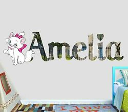 Aristocats Custom Vinyl Lettering Stickers Wall Decals Name Art VIC147
