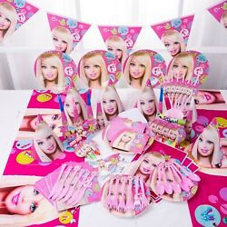90pcs Barbie Doll Birthday Party Supplies Barbie Kit Party Barbie Banner