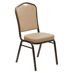 Flash Furniture Banquet Chairs W/tan Vinyl Seat And Copper Vein Frame 40/pack