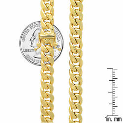 14k Yellow Gold Miami Cuban Link Chain Necklace 7.3mm Menand039s Women Sz 26