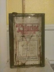 Vintage Early Rare Standard Oil Polarine 5 Gallon Transmission Oil Can