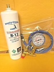 R12, Refrigerant 12, With Pro Seal, Leak Stop, 28 Oz Check And Charge Gauge, Hose