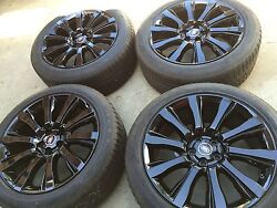 21 New Black Oem Range Rover Supercharged Autobiography Wheels Tires Tpms.