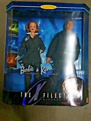 98 Collector Edition Barbie And Ken The X Files Gift Set Dana Skully Fox Mulder