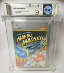 Nes - Marble Madness - Factory Sealed - Wata 8.0 A+ Graded - Nintendo