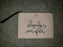 NWOT Kate Spade New York Happily Ever After Wristlet Wallet Pouch Clutch Wedding $49.99