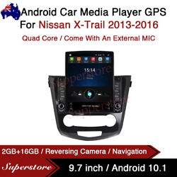 """9.7"""" Android 10.1 Car Stereo Non Dvd Gps Usb Head Unit For Nissan X-trail 13-16"""