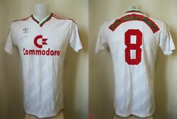 Match Worn Atletico Mineiro 8 Commodore-cup 1988 Sz L Maillot Shirt Jersey And03988