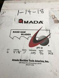 Amada Band Saw Blades 8and0391-5/8x 1...5/7 Tooth Box Of 6