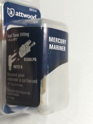 Attwood Fuel Tank Fitting For Mercury/mariner Fitting 1/4in Male Npt Threads