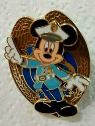 Wdw Cast Member Policeman Guard Security Badge Mickey Mouse Cop Disney Pin