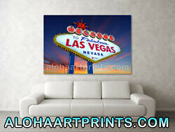 Welcome To Las Vegas Sign At Sunset Fine Art Print 24 By 36