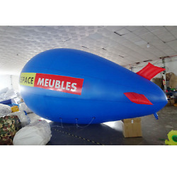 5m 16ft Giant Inflatable Helium Flying Balloon Advertising Blimp Free Logo Y