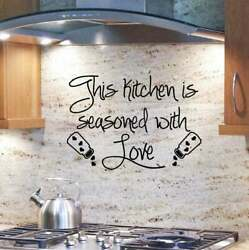 This Kitchen Is Seasoned with Love Vinyl Wall Decals Kitchen Sticker Art Decor