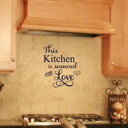 This Kitchen Is Seasoned with Love Vinyl Wall Decals Kitchen Art Sticker Decor