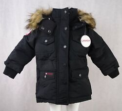 Canada Weather Gear Girls Snap-up Full-zip Parka