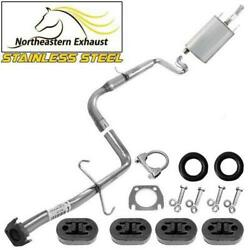 Stainless Steel Exhaust Kit With Hangers + Bolts Fit 1995-2001 Montecarlo Lumina