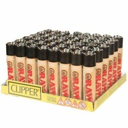 48 Count Big Size Clipper Lighters Refillable Raw Eco Paper Cigarette Lighter
