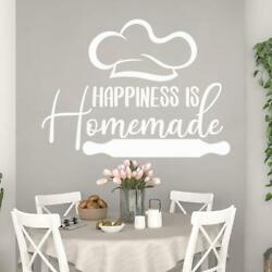 Wall Decals Kitchen Decor Happiness Is Homemade Home Art Dining Room Sticker