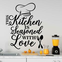 Wall Decals Kitchen Decor This Kitchen Is Seasoned with Love Vinyl Sticker Art