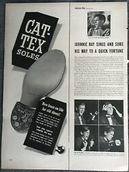 Johnnie Ray Cat Tex Soles New Lease On Life 1950#x27;s Vintage Print AD A70 $9.99