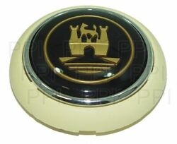 Horn Button Black And White And Silver Fits Volkswagen Type1 56-59 Type2 Bus 50-67
