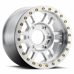 Vision 398 Manx Bl 17x8.5 6x165.1 Et-15 As-cast Machined Face Qty Of 4