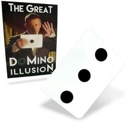 Pro The Great Domino Illusion Stage Magic Trick Dots Spots Move Dubious Card Gag