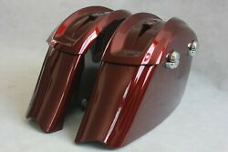 Red Hot Sungloe Color Ix Saddlebags For Indian Motorcycles 2014-2018