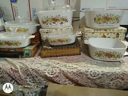 Lot And Rare.stamp...corning Ware A1b 1 Quart L'echalote Baking Dishes