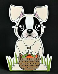 Boston Terrier Easter Bunny 7in Decor
