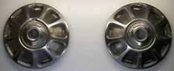 2 Stainless Hubcap 12 5/8 Inch To Clips Fits 13 Inch Rim Need Help To Identify