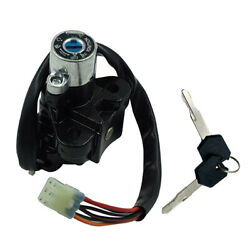 Motorbike Motorcycle Ignition Switch Fuel Gas Cap Cover Seat Lock Key For Suzuki
