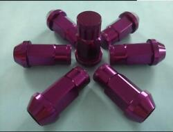 20 12x1.25 Purple Tuner Lug Nuts For Acorn Wheels   Closed End   19mm 3/4 Hex